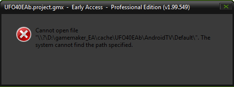Android - Cannot open file / the system cannot find the path